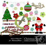 Christmas Candy Embellishment Pack-$2.99 (Paula Phillips)