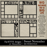 Sweet November Big Words Pack-$2.99 (Fayette Designs)