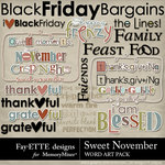 Sweet November WordArt Pack-$2.49 (Fayette Designs)