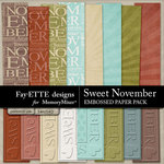 Sweet November Embossed Paper Pack-$3.99 (Fayette Designs)