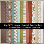 Sweet November Patterned Paper Pack-$3.99 (Fayette Designs)
