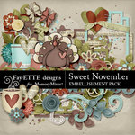 Sweet November Embellishment Pack-$3.49 (Fayette Designs)