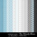 The Moody Blue Pattern Paper Pack-$1.40 (Lindsay Jane)