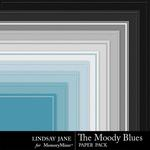 The Moody Blues Embossed Paper Pack-$1.40 (Lindsay Jane)