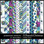 A Peacock Christmas Pattern Paper Pack-$3.49 (Jumpstart Designs)
