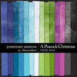 A Peacock Christmas Plain Paper Pack-$3.49 (Jumpstart Designs)