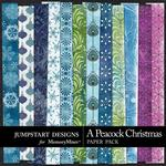 A Peacock Christmas Pretty Paper Pack-$3.49 (Jumpstart Designs)