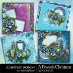 A Peacock Christmas Quick Pages-$3.49 (Jumpstart Designs)