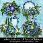 A Peacock Christmas Clusters-$3.49 (Jumpstart Designs)