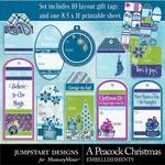 A Peacock Christmas Printable Tags-$2.99 (Jumpstart Designs)