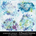 A Peacock Christmas Splatters-$2.99 (Jumpstart Designs)