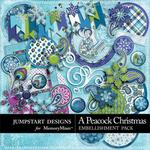 A Peacock Christmas Add On Embellishment Pack-$3.49 (Jumpstart Designs)