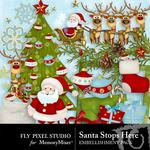 Santastopshere embellishment small