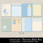 Precious Baby Boy LJ Journal Cards-$1.40 (Lindsay Jane)