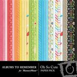 Oh So Cute Paper Pack-$3.49 (Albums to Remember)