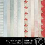 Fall Days Paper Pack-$3.49 (Fly Pixel Studio)
