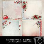 Fall Days Paper Pack 2-$2.45 (Fly Pixel Studio)