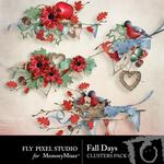 Fall Days Cluster-$1.40 (Fly Pixel Studio)
