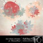 Fall Days Stamps-$1.40 (Fly Pixel Studio)