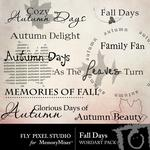 Fall Days WordArt-$1.75 (Fly Pixel Studio)