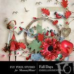 Fall Days Embellishment Pack-$2.10 (Fly Pixel Studio)
