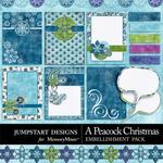 A Peacock Christmas Journals-$3.49 (Jumpstart Designs)