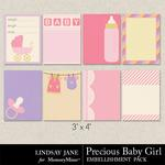 Precious Baby Girl LJ Journal Cards-$1.99 (Lindsay Jane)