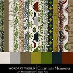 Christmas Memories Paper Pack 2-$3.99 (Word Art World)