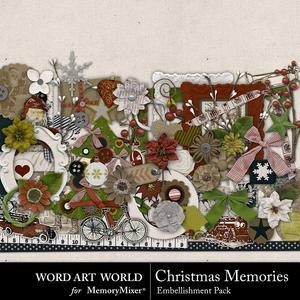 Christmas memories embellishment pack medium