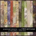 At The Old Cafe Corner Grunge Paper Pack-$1.75 (Jumpstart Designs)