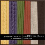 At The Old Cafe Corner Knit Paper Pack-$3.49 (Jumpstart Designs)