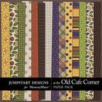 At The Old Cafe Corner Pattern Paper Pack-$1.75 (Jumpstart Designs)