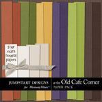 At The Old Cafe Corner Plain Paper Pack-$2.49 (Jumpstart Designs)