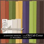 At The Old Cafe Corner Plain Paper Pack-$3.49 (Jumpstart Designs)