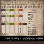 At The Old Cafe Corner Date Bits-$2.99 (Jumpstart Designs)