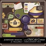 At The Old Cafe Corner Journals-$3.49 (Jumpstart Designs)