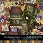 At The Old Cafe Corner Embellishment Pack-$4.99 (Jumpstart Designs)