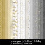 Golden Holiday Paper Pack-$1.75 (Lindsay Jane)