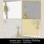 Golden Holiday Deco Paper Pack-$1.99 (Lindsay Jane)