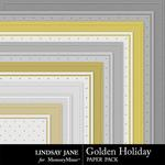 Golden Holiday Embossed Paper Pack-$1.99 (Lindsay Jane)