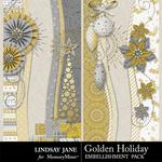 Golden Holiday Borders-$0.99 (Lindsay Jane)