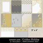 Golden Holiday Journal Cards-$1.99 (Lindsay Jane)