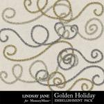 Golden Holiday Tinsel Swirls-$0.99 (Lindsay Jane)