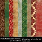 Country Christmas Glitter Paper Pack-$3.49 (Laura Burger)