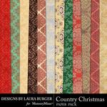 Country Christmas Ornate Paper Pack-$1.40 (Laura Burger)
