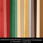 Country Christmas Solid Paper Pack-$3.49 (Laura Burger)