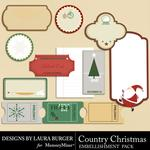 Country Christmas Tags and Journals-$1.75 (Laura Burger)