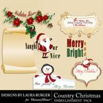 Country Christmas WordArt-$2.49 (Laura Burger)