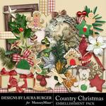 Country Christmas Add On Embellishment Pack-$3.49 (Laura Burger)