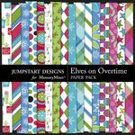 Elves On Overtime Pattern Paper Pack-$3.49 (Jumpstart Designs)
